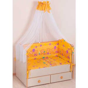 Комплект в кроватку Сдобина Обруч 6 предметов (желтый) холлофайбер 59.2