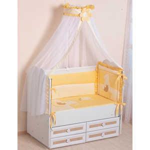 Комплект в кроватку Сдобина Пасечник 7 предметов (бежевый) холлофайбер 64 комплект в овальную кроватку sweet baby aria 419059 бежевый 5 предметов