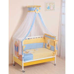Комплект в кроватку Сдобина Пасечник 7 предметов (голубой) холлофайбер 64 комплект в кроватку сдобина летнее утро 7 предметов бежевый 91