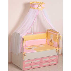 Комплект в кроватку Сдобина Пасечник 7 предметов (розовый) холлофайбер 64