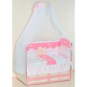 Комплект в кроватку Сдобина Сладких снов/Ночка 6 предметов (розовый) 63