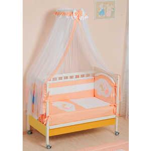 Комплект в кроватку Сдобина Мой маленький друг 7 предметов (персиковый) 50.1