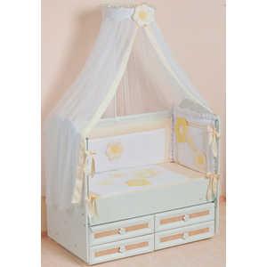 Комплект в кроватку Сдобина Цветные сны 7 предметов (бежевый) 62