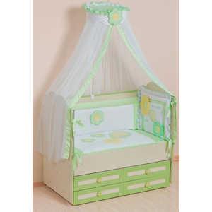 Комплект в кроватку Сдобина Цветные сны 7 предметов (салатовый) 62