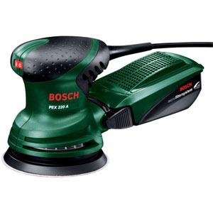 Эксцентриковая шлифмашина Bosch PEX 220A bosch 2602026070 дополнительная ручка для gex pss pex