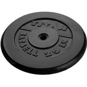 Диск обрезиненный Titan 26 мм. 20 кг. черный диск обрезиненный star fit bb 202 посадочный диаметр 26 мм 0 5 кг