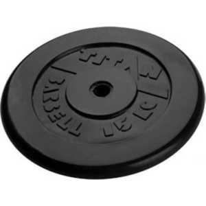 Диск обрезиненный Titan 51 мм 15 кг черный