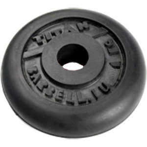 Диск обрезиненный Titan 51 мм. 1.25 кг. черный купить недорого низкая цена  - купить со скидкой