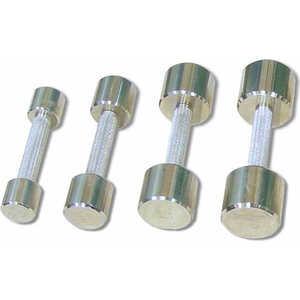 Гантель неразборная MB Barbell Фитнесс 1,0 кг (хром) гантель неопреновая bodyform bf dn01 1шт вес 0 5 кг