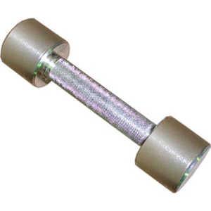 Гантель неразборная MB Barbell Фитнесс 2,5 кг (хром) гантель неопреновая bodyform bf dn01 1шт вес 0 5 кг