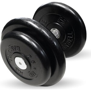 Гантель профессиональная MB Barbell Профи черная 16 кг гиря mb barbell 16 кг