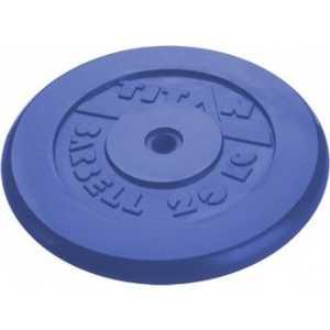 Диск обрезиненный Titan 26 мм 20 кг синий