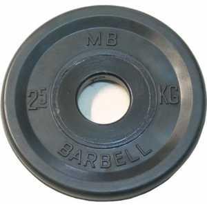 Диск обрезиненный MB Barbell 51 мм 2.5 кг черный Евро-Классик (Олимпийский)