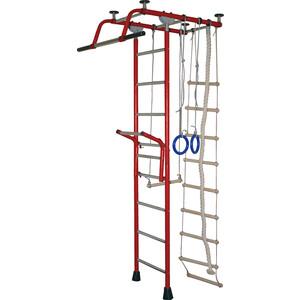 Детский спортивный комплекс КМС Крепыш плюс Т с навесным турником (бордовый)