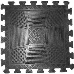 Коврик резиновый MB Barbell 400 х 20 мм черный