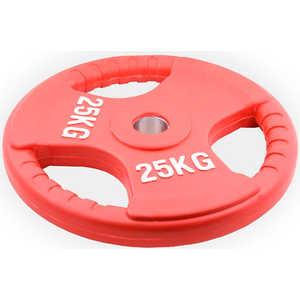Диск обрезиненный Евро-Классик 51 мм 25 кг красный с тройным хватом (Олимпийский) олимпийский диск евро классик с хватом ромашка 20 кг