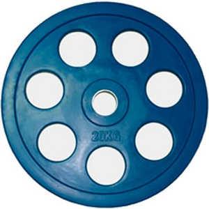 Диск обрезиненный Евро-Классик 51 мм 20 кг синий с хватом Ромашка (Олимпийский)