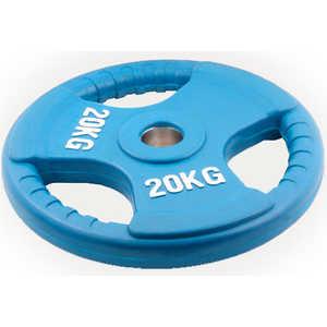 Диск обрезиненный Евро-Классик 51 мм 20 кг синий с тройным хватом (Олимпийский) олимпийский диск евро классик с хватом ромашка 20 кг