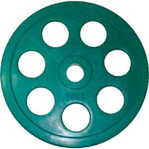 Диск обрезиненный Евро-Классик 51 мм 10 кг зеленый с хватом