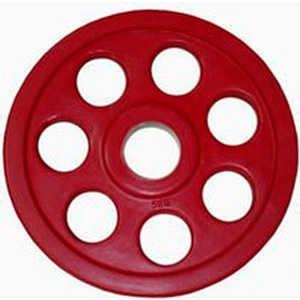 Диск обрезиненный Евро-Классик 51 мм 5 кг красный серия Ромашка (Олимпийский)