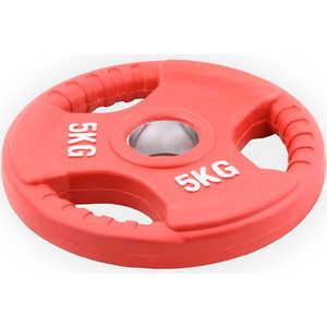 Диск обрезиненный Евро-Классик 51 мм 5 кг красный с тройным хватом (Олимпийский)