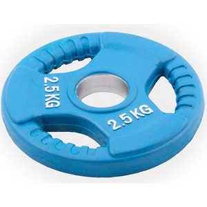 Диск обрезиненный Евро-Классик 51 мм 2.5 кг синий с тройным хватом (Олимпийский) олимпийский диск евро классик с хватом ромашка 20 кг