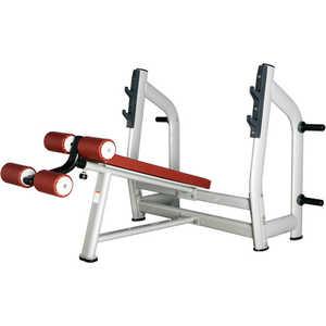 Скамья для жима с отрицательным наклоном Bronze Gym H-024 голень машина bronze gym d 017