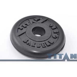 Диск обрезиненный Titan 26 мм 25 кг черный диск обрезиненный body solid 5 фунтов 2 25 кг ort5