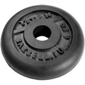 Диск обрезиненный Titan 31 мм. 1.25 кг. черный купить недорого низкая цена  - купить со скидкой