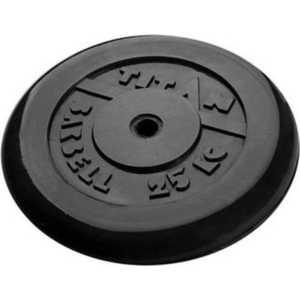 Диск обрезиненный Titan 31 мм 25 кг черный цена в Москве и Питере