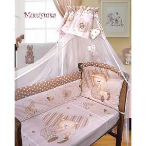 Комплект постельного белья Золотой гусь Мишутка (бежевый) 2103