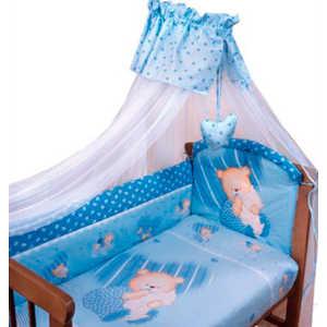 цена на Комплект постельного белья Золотой гусь Мишутка (голубой) 2102