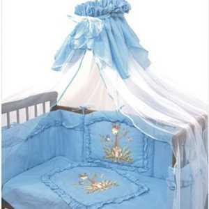 Комплект постельного белья Золотой гусь Аленка (голубой) 2012