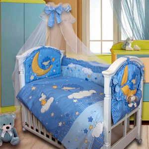 Комплект в кроватку Золотой гусь Ежик Топа-топ (голубой) 2182