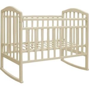 цена на Кроватка Антел Алита-2 колеса/качалка слоновая кость