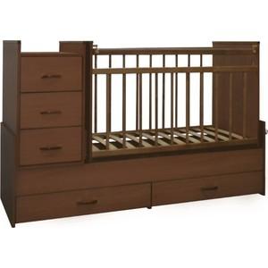 Кроватка трансформер СКВ Компани СКВ-5 с маятником орех 534037 цены онлайн