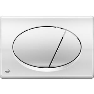 Кнопка смыва AlcaPlast глянцевый хром (M71) кнопка смыва alcaplast хром глянцевая кнопка матовая m173