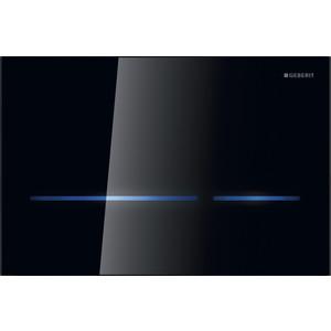 Кнопка смыва Geberit Sigma 80 бесконтактная, с подсветкой, черное стекло (116.090.SG.1)