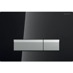 Кнопка смыва Geberit Sigma 40 черное стекло/аллюминий, с системой очистки воздуха (115.600.SJ.1) фото
