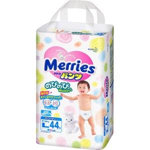 Трусики - подгузники Merries L 9-14кг 44шт 4901301230638 подгузники merries s 4 8кг 82шт 4901301230812