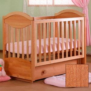 Кроватка Кубаньлесстрой Камелия поперечный маятник/ящик светлый орех АБ 23.2 модульная стенка камелия 4