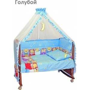 Комплект в кроватку Сонный Гномик Лежебоки 7 предметов (голубой) 715/1