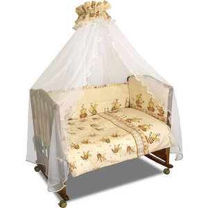 Фото - Комплект постельного белья Сонный Гномик Пчёлки (бежевый) 732 комплект белья для новорожденных сонный гномик жирафик бежевый белый