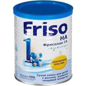 Гипоаллегренная смесь Friso для детей с 6 до 12 мес 2 ГА с Frisolak DHA 400 гр 8716200496063 молочная смесь friso фрисолак 1 га с рождения 400 гр