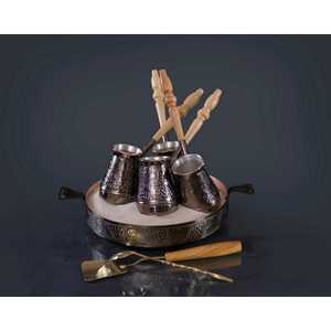 Турецкий набор для приготовления кофе Станица Виноград 0.18 л КО-26001 кофейник станица грация ко 26220гц