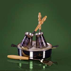 Турецкий набор для приготовления кофе Станица Тет-а-тет 0.18 л КО-26003 кофейник станица грация ко 26220гц