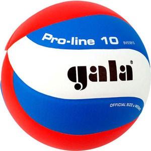 цена Мяч волейбольный Gala Pro-Line 10 размер 5, цвет бело-голубо-красный (BV5581S) онлайн в 2017 году