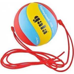 Мяч волейбольный Gala на растяжках Jump размер 5, цвет красно-сине-желтый