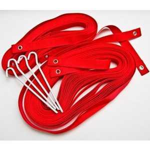 Комплект для разметки площадки Kv.Rezac пляжного волейбола 15095874, цвет красный