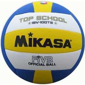 Мяч волейбольный Mikasa ISV100TS, размер 5, цвет бел-жел-син мяч для водного поло mikasa w6609c жен размер